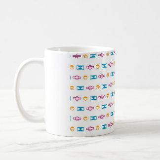 Electric symbolic magnetic cup basic white mug