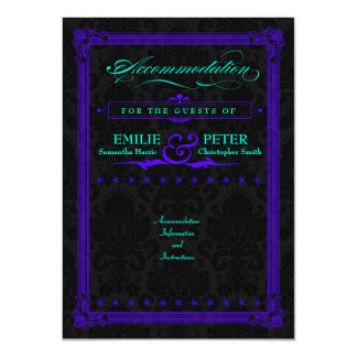 Electric Teal & Purple Poster Style Accommodations 11 Cm X 16 Cm Invitation Card
