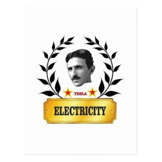 electric tesola postcard