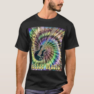 Electric Tie-Dye Swirl Guitar Magic Shirt