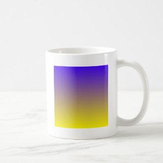 Electric Ultramarine to Lemon Horizontal Gradient Mugs