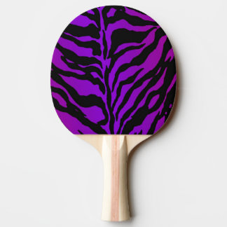 Electric Violet Zebra Animal Skin Ping Pong Paddle