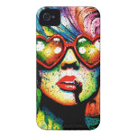 Electric Wasteland Heart Shaped Sunglasses Pop Art iPhone 4 Cover
