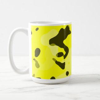 Electric Yellow Camo; Camouflage Mugs