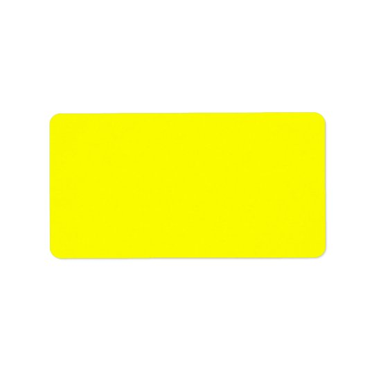 Electric Yellow Contemporary Colour Matching Label