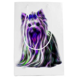 Electric Yorkie Medium Gift Bag