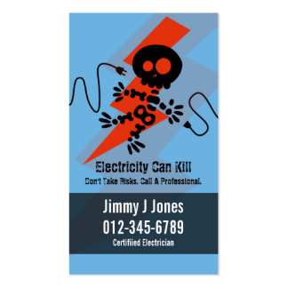 Electric Zap Home Repairs Blue Business Card