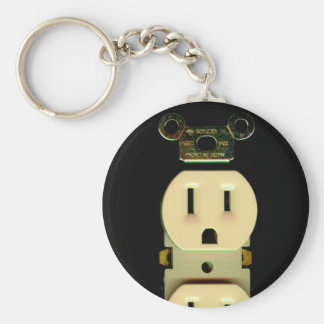 Electrical contractor outlet electricians business key chain