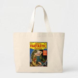 Electrical Dinosaur Large Tote Bag