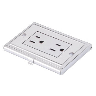 Electrical Outlet #2 Business Card Holder