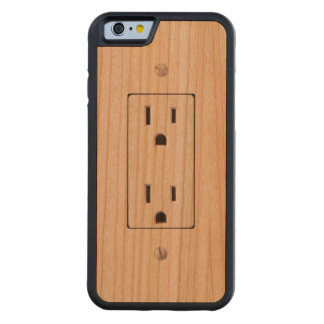 Electrical Outlet #2 Carved® Cherry iPhone 6 Bumper Case