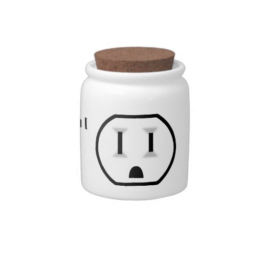 Electrical Outlet (I Don't Run Off Cookies?!) Candy Jar