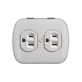 Electrical Outlet Plug in Candy Tins
