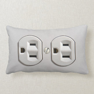 Electrical Outlet Plug in Throw Cushion