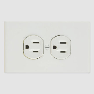 Electrical Outlet Rectangular Stickers