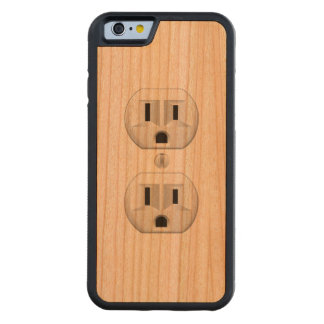 Electrical Plug Wall Outlet Fun Customize This Carved® Cherry iPhone 6 Bumper Case