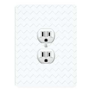 "Electrical Plug Wall Outlet Fun Customize This 6.5"" X 8.75"" Invitation Card"