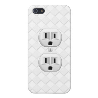 Electrical Plug Wall Outlet Fun Customize This Cover For iPhone 5/5S