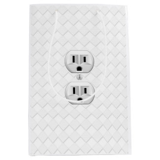 Electrical Plug Wall Outlet Fun Customize This Medium Gift Bag