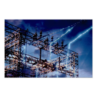 Electrical power substation poster