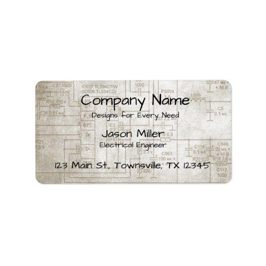 Electrical Schematics Address Label