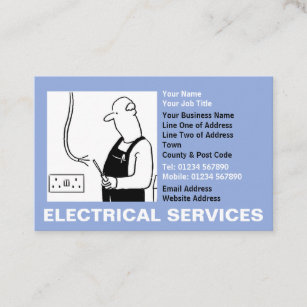 Funny electricians business cards zazzle au electrical services business card reheart Choice Image