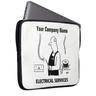 Electrical Services Cartoon Laptop Sleeve