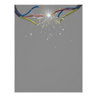 electrical spark 21.5 cm x 28 cm flyer