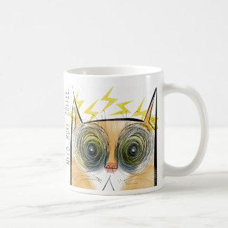 Electrically urgent caffeine cat coffee mug