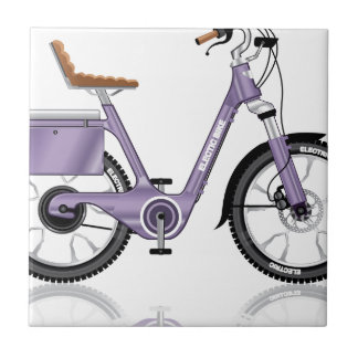 ElectricBicycleVectorDetailed Ceramic Tile