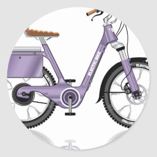 ElectricBicycleVectorDetailed Classic Round Sticker