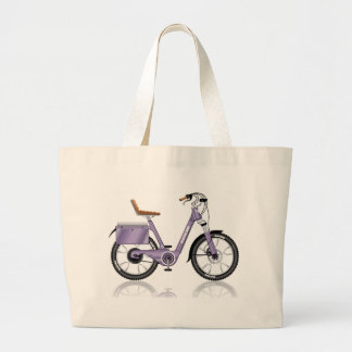 ElectricBicycleVectorDetailed Large Tote Bag
