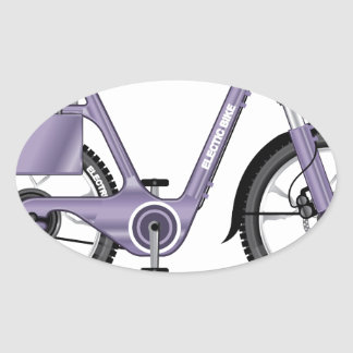 ElectricBicycleVectorDetailed Oval Sticker