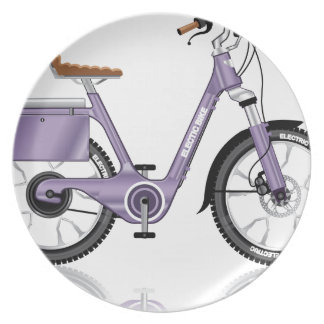 ElectricBicycleVectorDetailed Plate