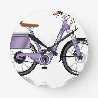 ElectricBicycleVectorDetailed Round Clock