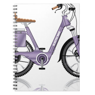 ElectricBicycleVectorDetailed Spiral Notebook