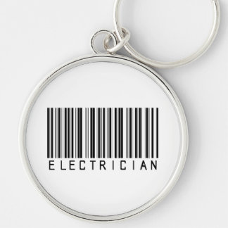 Electrician Bar Code Silver-Colored Round Key Ring