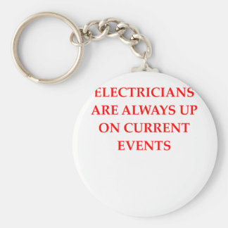 electrician basic round button key ring