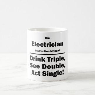 electrician basic white mug