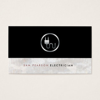 Electrician Bold Electric Plug Icon Simple Elegant