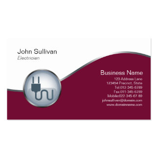 Electrician Business Card Cord and Plug Icon