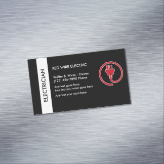 Electrician Business Card Magnet