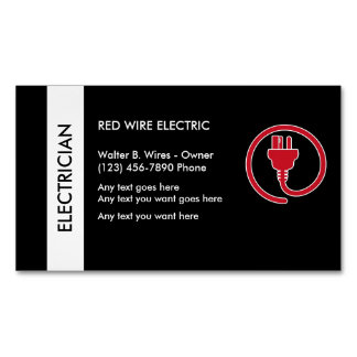 Electrician Business Card Magnet Magnetic Business Cards