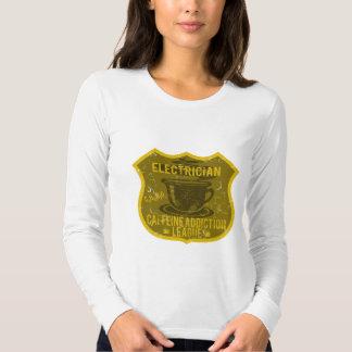 Electrician Caffeine Addiction League Shirt