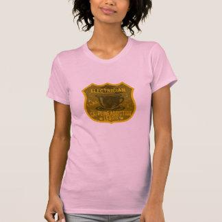 Electrician Caffeine Addiction League T-Shirt