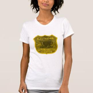 Electrician Caffeine Addiction League Tee Shirt