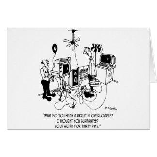 Electrician Cartoon 4427 Card