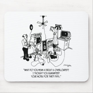 Electrician Cartoon 4427 Mouse Pad