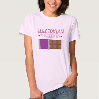 Electrician chocolate Gift for Her Tee Shirts