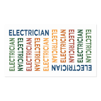 Electrician Cute Colorful Business Cards
